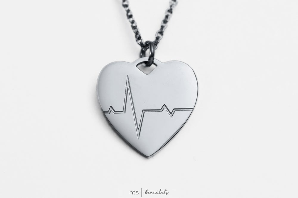 Image of LIMITED EDITION LIFELINE NECKLACE EMBRACE THE JOURNEY (Heart + Silver)