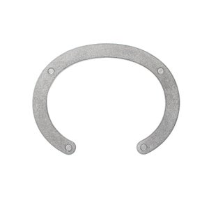 Image of DRILLING LAB - Anonymous Cuff Bracelet (Matte Silver)