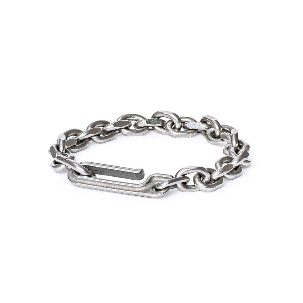 Image of DRILLING LAB - Framework Chain Bracelet (Matte Sliver)