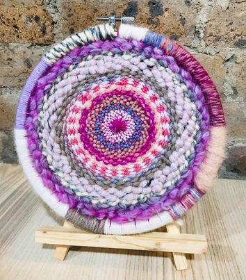 Image of Pink Tabby Circular Weaving