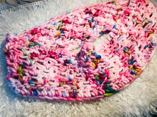 Image of Sweetie the Crocheted Chunky Woollen Cowl