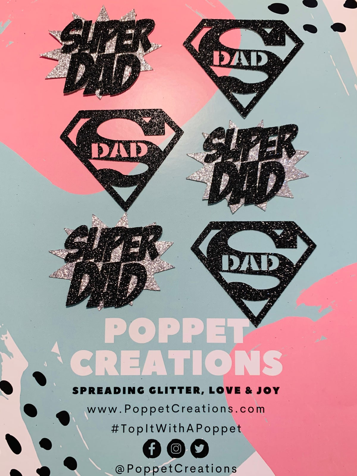 Image of Fathers Day /Super Dad cupcake toppers (set of 6)