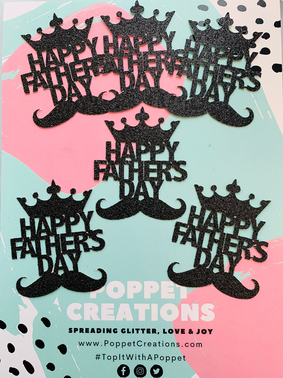 Image of Fathers Day - Crown&Moustache (pack of 6)