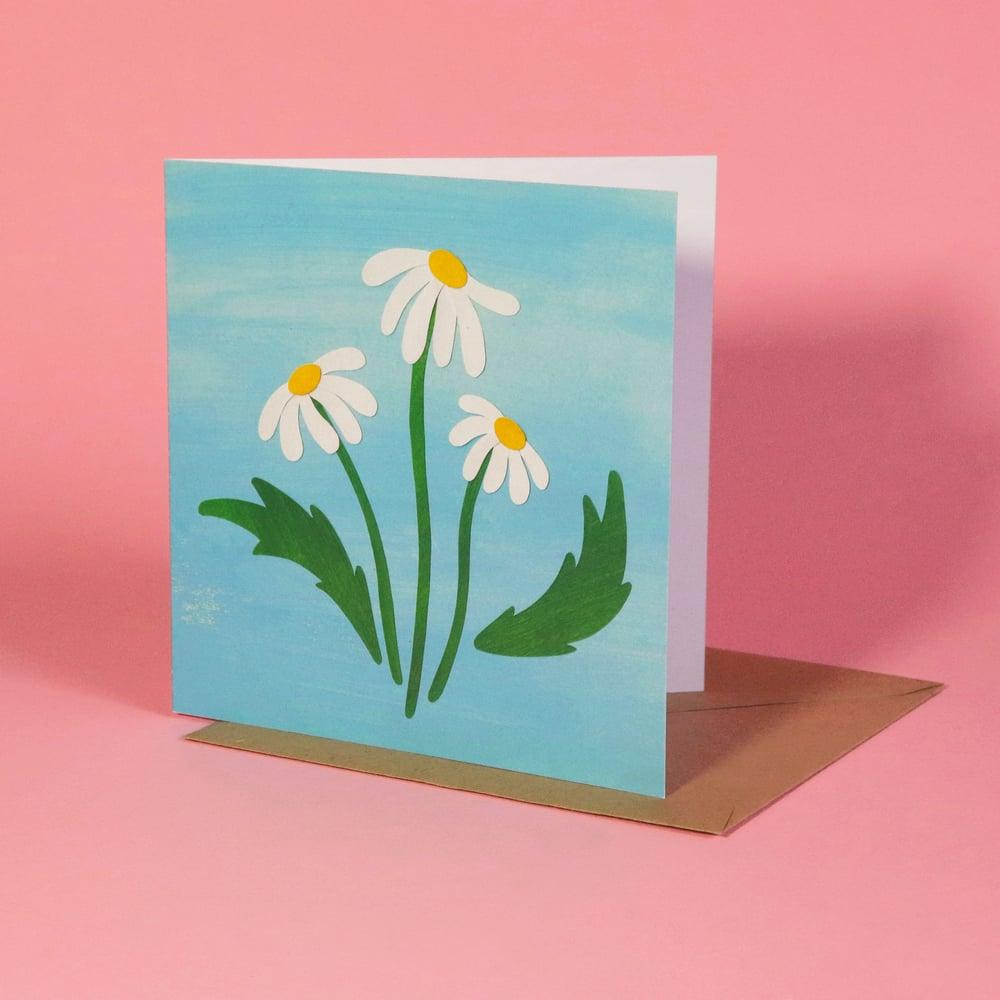 Daisies Greetings Card