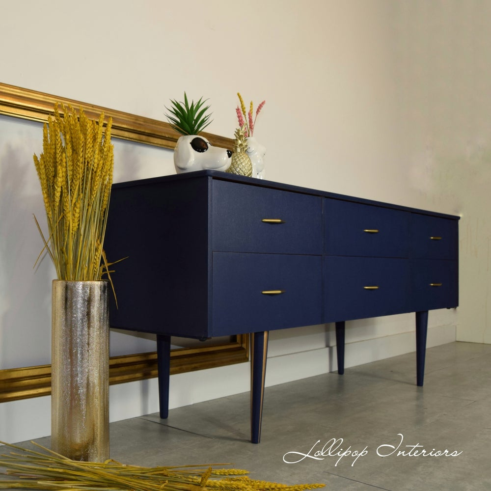 Image of Low mid century sideboard