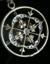 EDWARDIAN ORIGINAL 18CT FRENCH ROSE CUT DIAMOND PEARL PENDANT