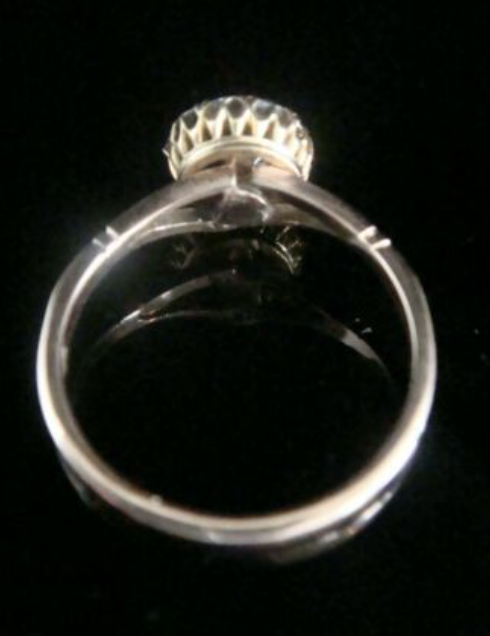 Image of EDWARDIAN 18CT YELLOW GOLD NATURAL SAPPHIRE OLD CUT DIAMOND CLUSTER HALO RING