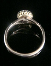 EDWARDIAN 18CT YELLOW GOLD NATURAL SAPPHIRE OLD CUT DIAMOND CLUSTER HALO RING