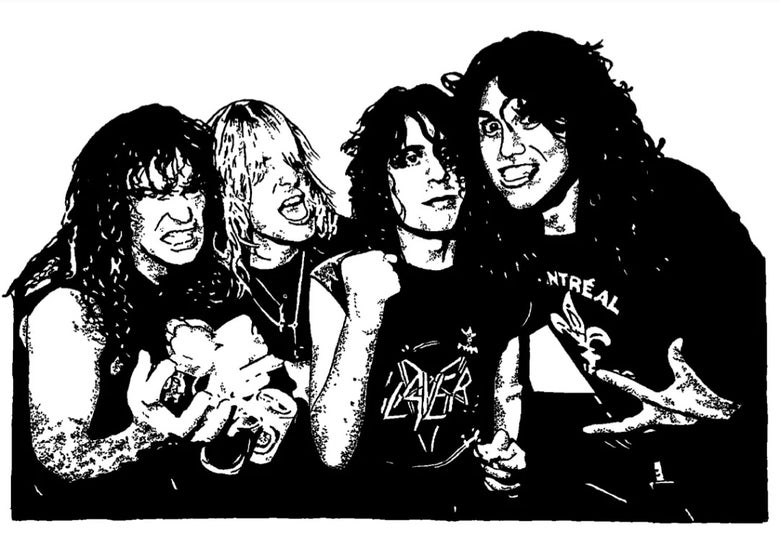 Image of Reign in Blood limited edition artprint.