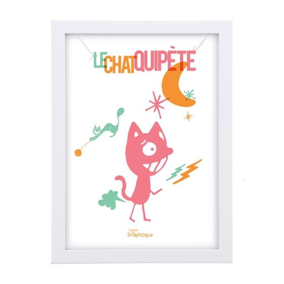 Image of Petit cadre décoratif - Le chat qui pète