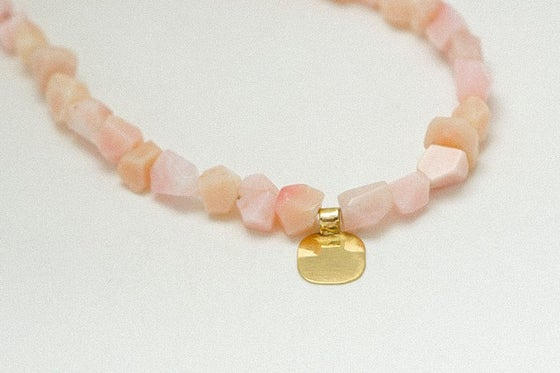 Image of Pink sweets necklace with opals & gold