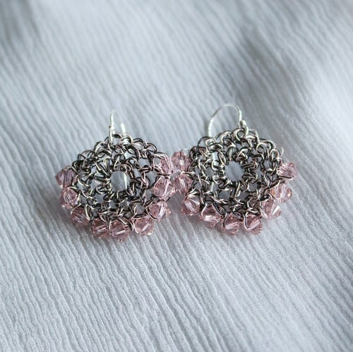 Image of CRESCENT EARRINGS - Vintage Rose