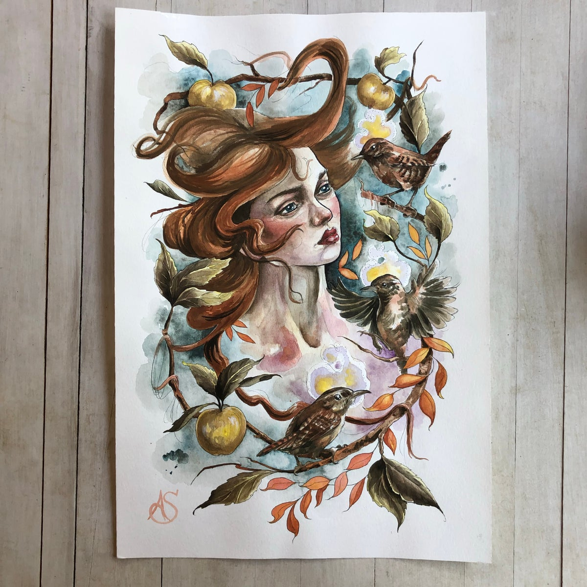 Cliodhna | Original Watercolor Painting