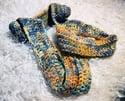 Crocheted Rusty Cowl
