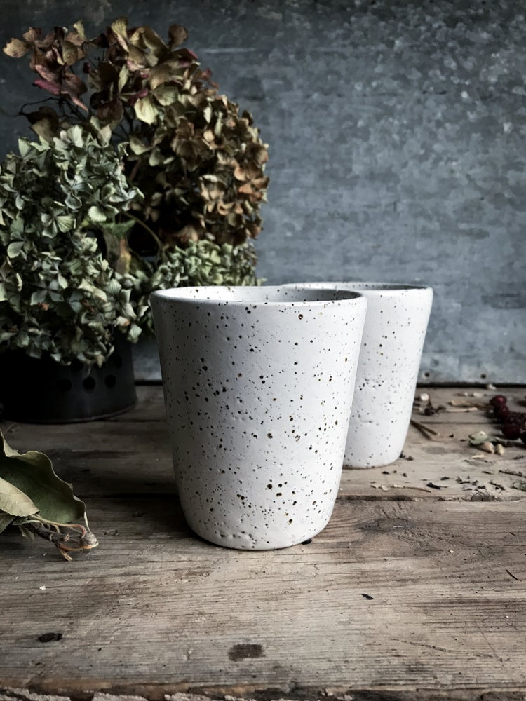 Image of Speckled latte cup