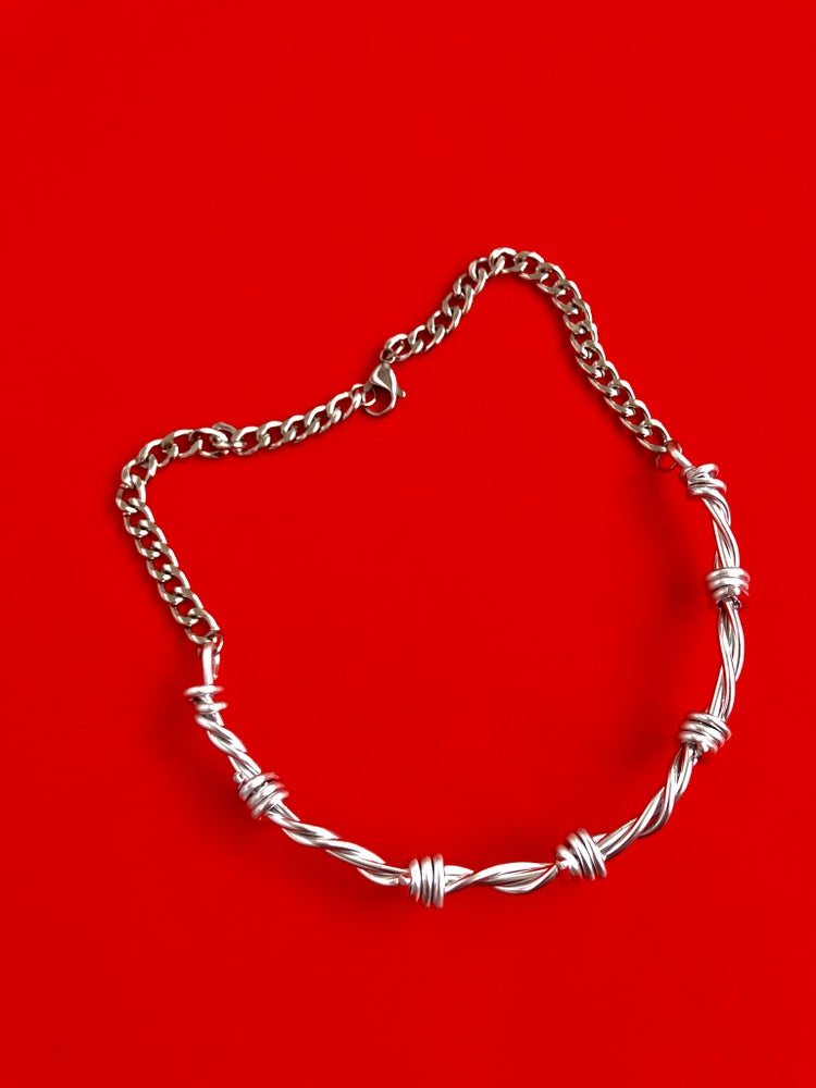 Image of VICIOUS THICK BARBED WIRE CHOKER