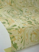 Marbled Paper Gouache on Sorbet Yellow - 1/2 sheets