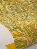 Marbled Paper Gouache on Citrine - 1/2 sheets