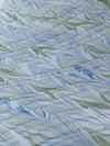 Marbled Paper Gouache Ripples on White - 1/2 sheet