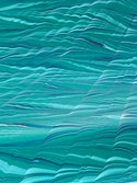 Marbled Paper Gouache Ripples on Marrs Green - 1/2 sheets