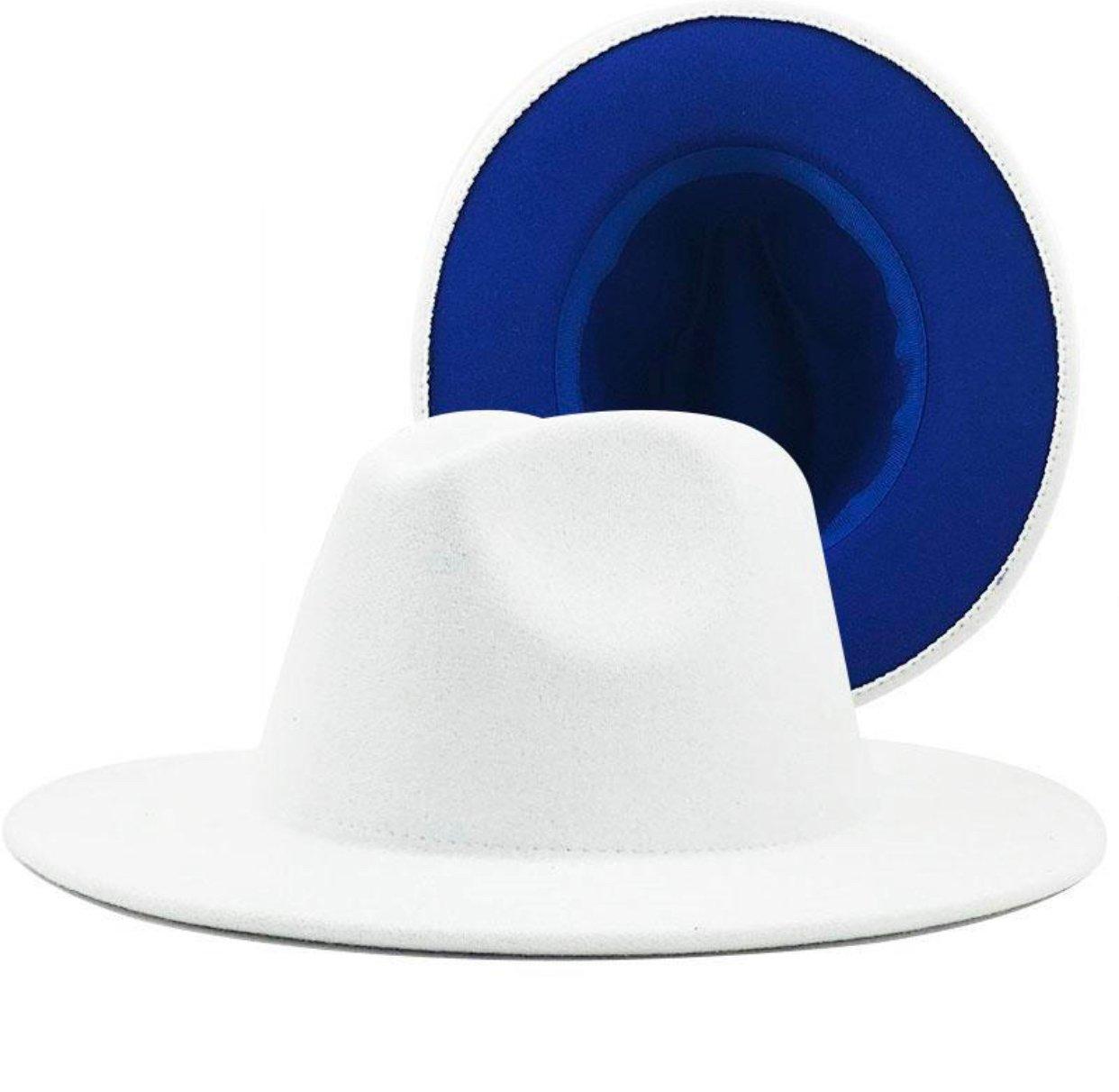 Image of White/ Royal Blue Fedora
