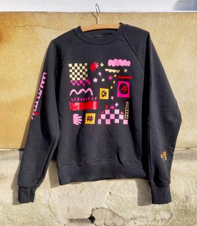 Image of Black Printed Sweatshirt