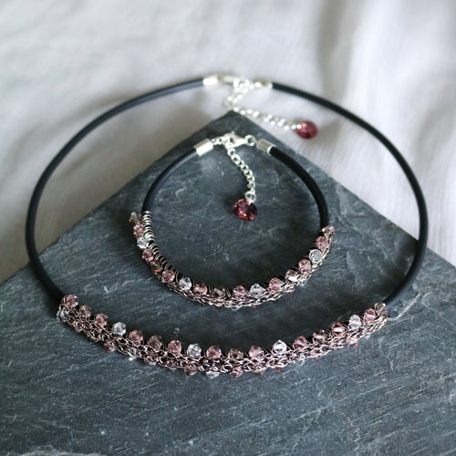 Image of LAUREL Necklace - Vintage Rose