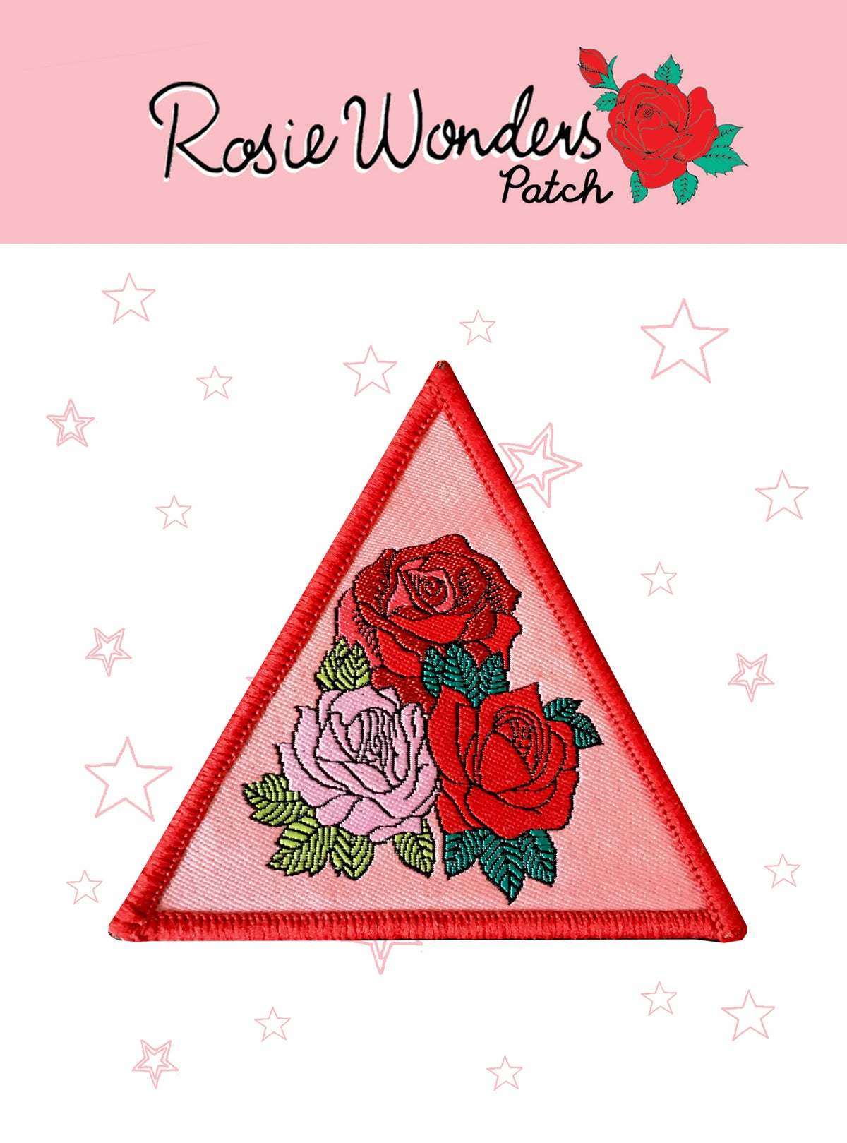 Triangle Roses Iron on Patch