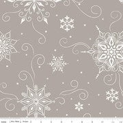 """Image of Snowed In Snowflakes 108"""" Wide Back in Gray"""