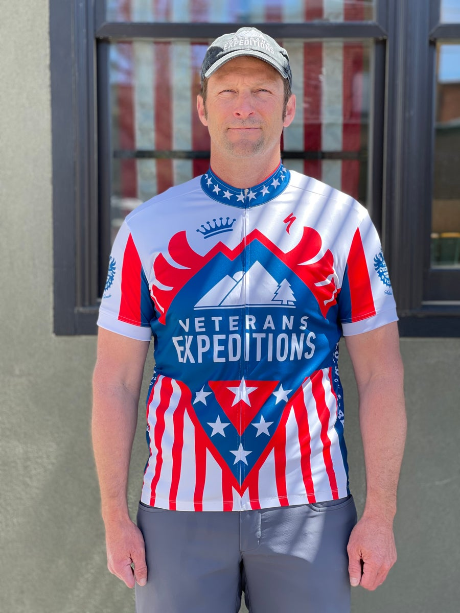 Image of Veterans Expeditions Jersey Mens SS Sport Zip-Up