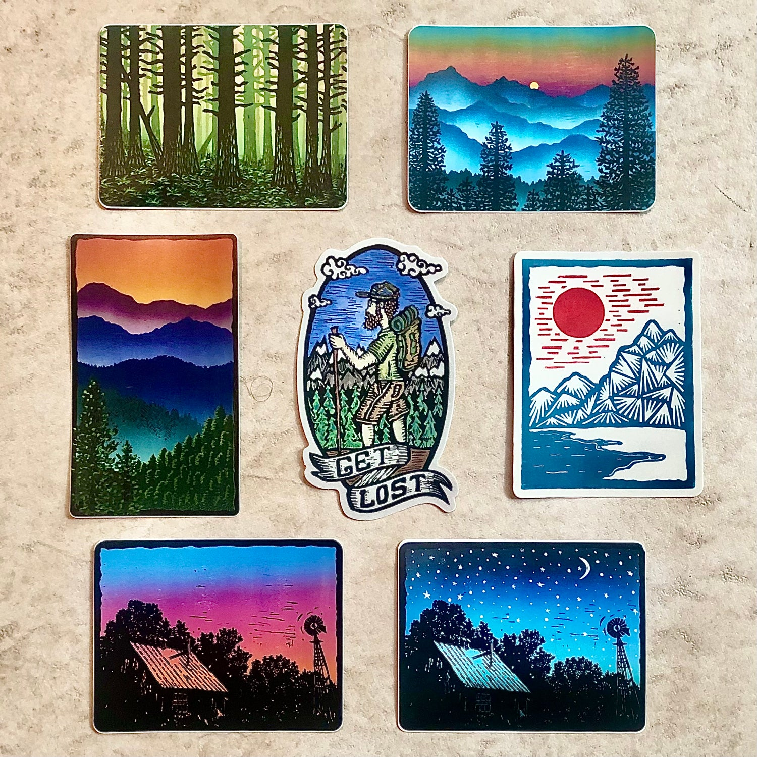 Image of Get Lost sticker pack