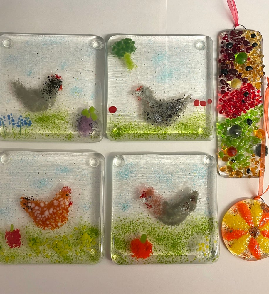 Image of Adults introduction to fused glass art workshop