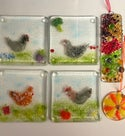 Adults introduction to fused glass art workshop