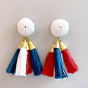 Image of The Meg Earrings- 4th of July Edition