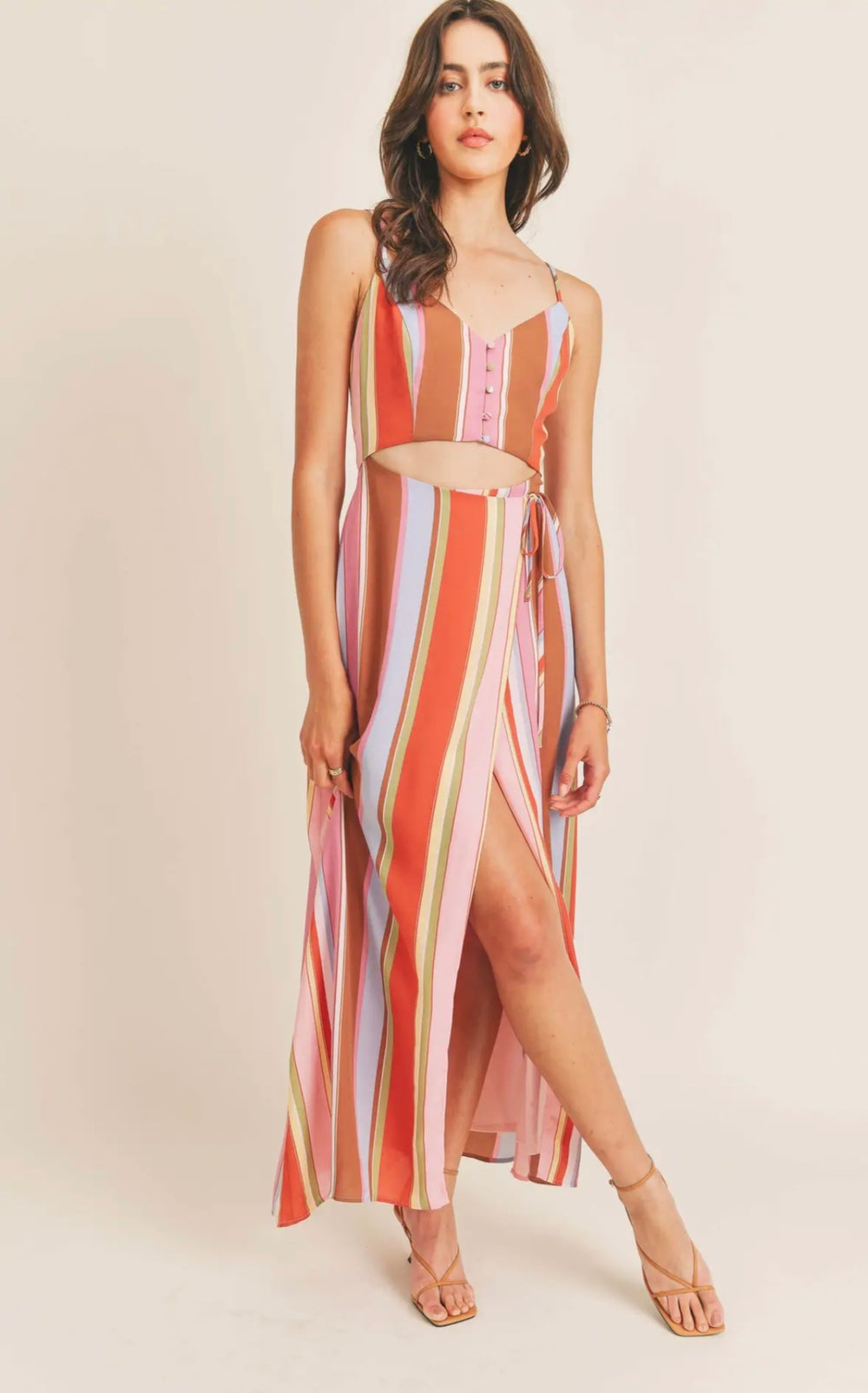 Image of Kimmy Cut Out Stipe Maxi Dress