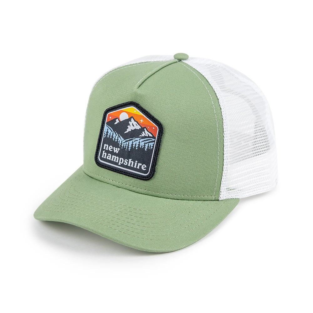 Image of NH Patch Cap- Dusty Sage/White Mesh