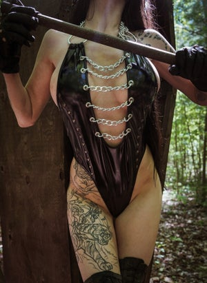 Image of Toxic Vision Lady Evil bodysuit TWO OF A KIND