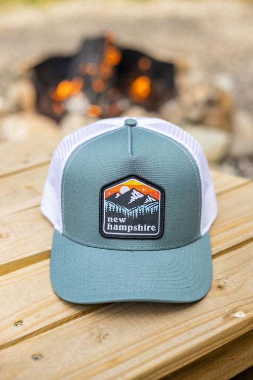 Image of NH Patch Cap- Deep Teal/White Mesh