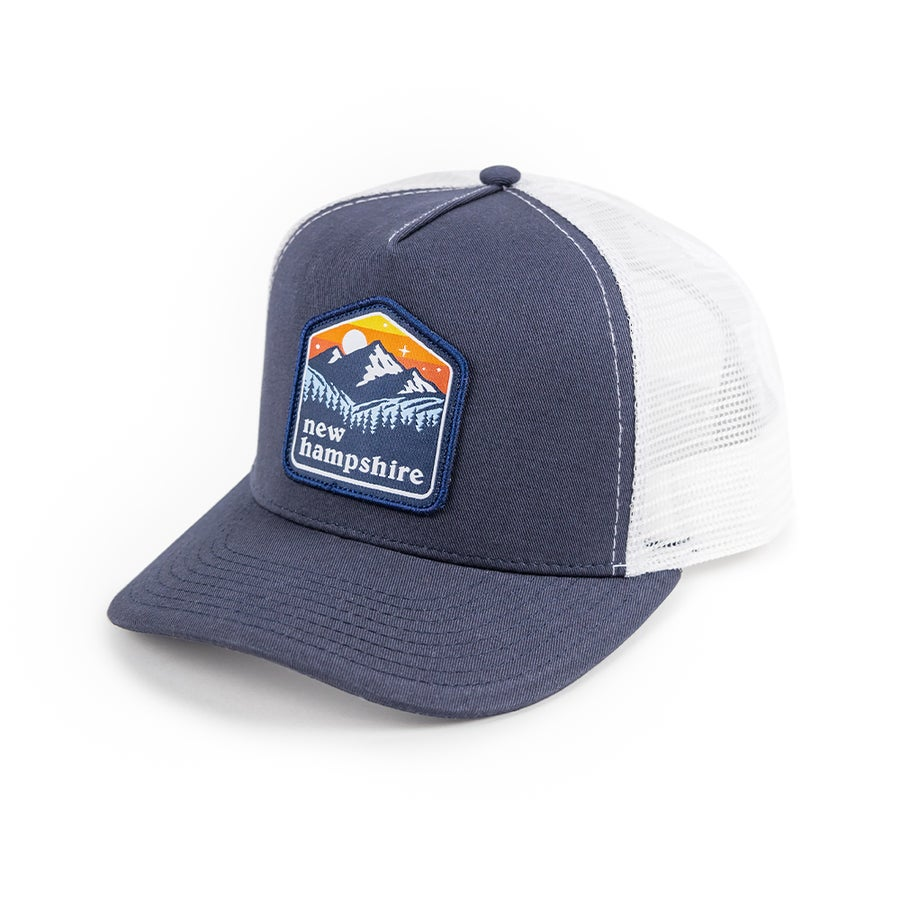Image of NH Patch Cap- Navy/White Mesh