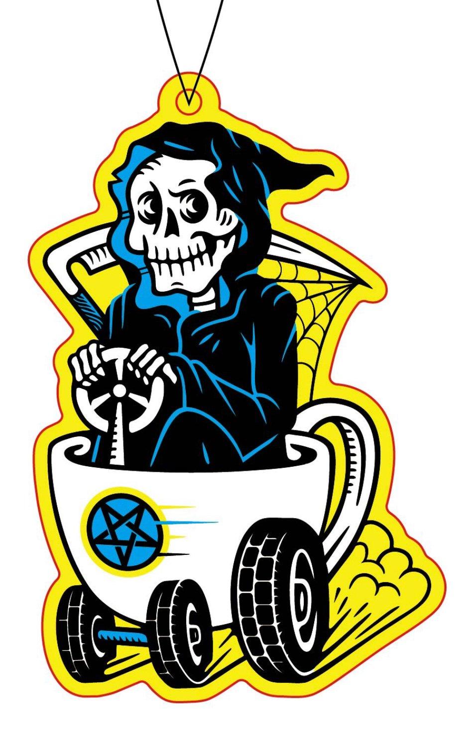 RR #134 Death By Coffee Hot Rod Reaper Air Freshener