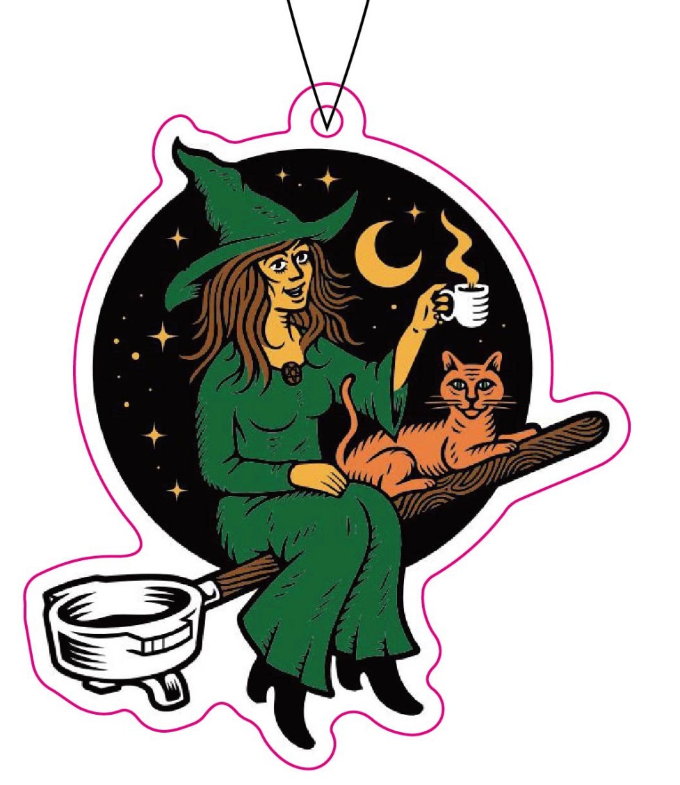 RR #133 Death By Coffee Witch Air Freshener
