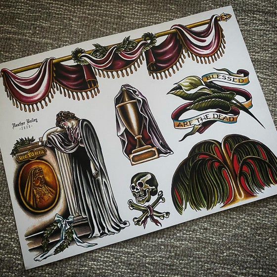 Image of Victorian Mourning Flash Sheet
