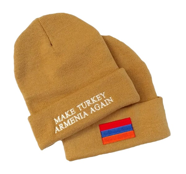 Image of Make Turkey Armenia Again Beanie - Der Zor Sand