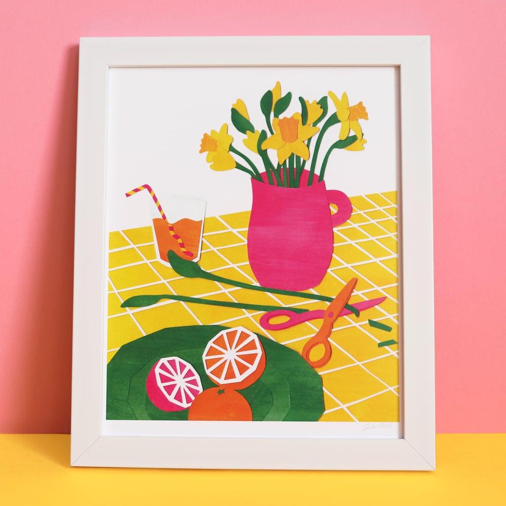 """Daffodils Still Life - 8x10"""" Print"""