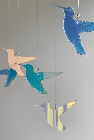 Image of Iridescent Acrylic Hummingbird Prism