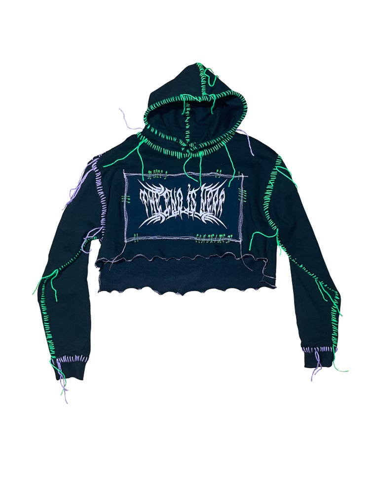 Image of THE END IS NEAR SUMMER CROPPED HOODIE