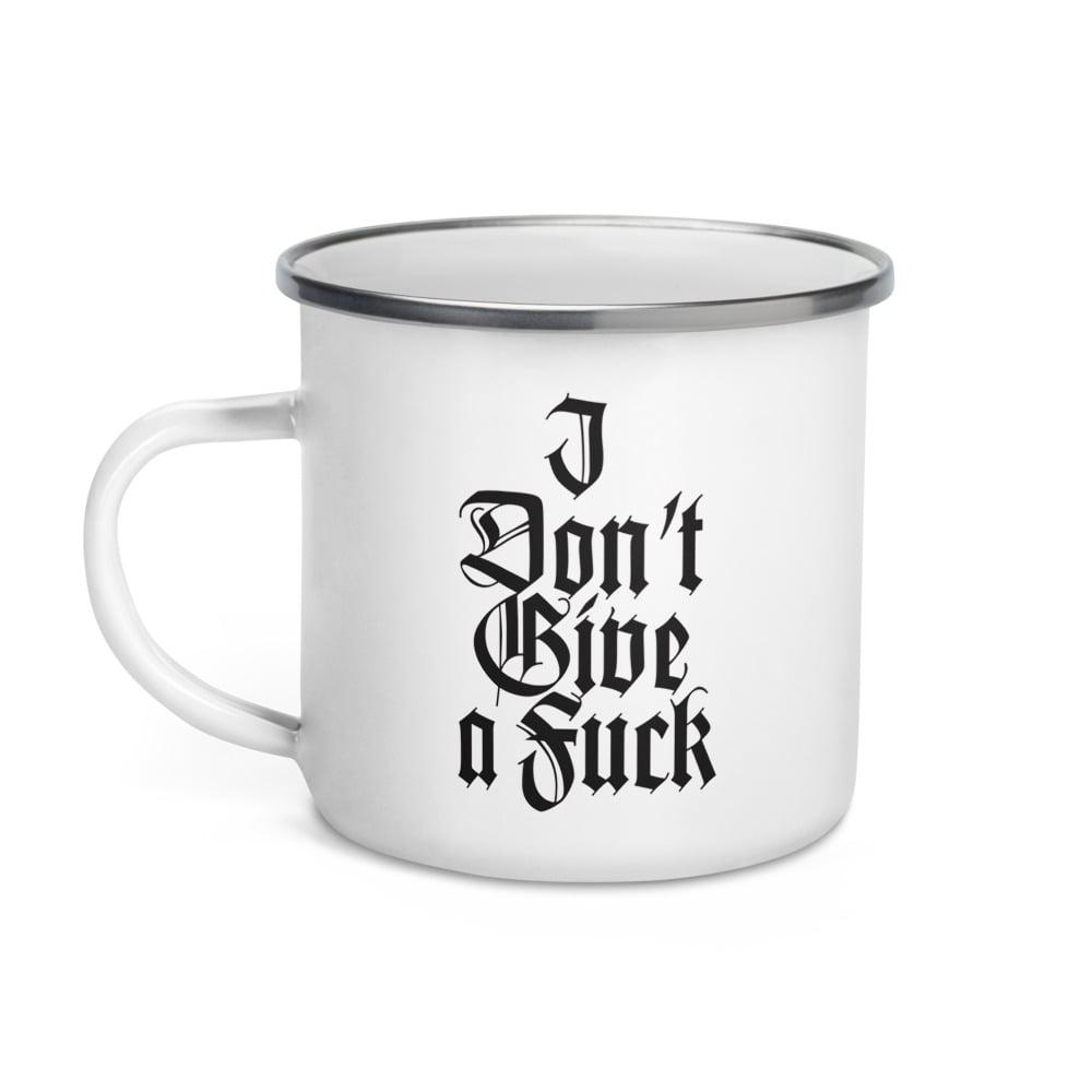 Image of IDGAF/IGAF enamel mug