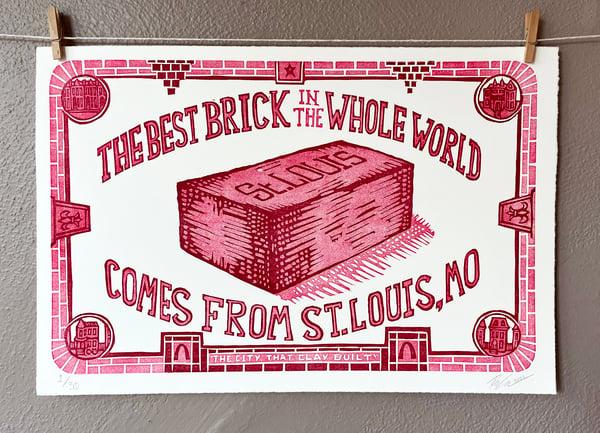 Image of STL BRICK Poster