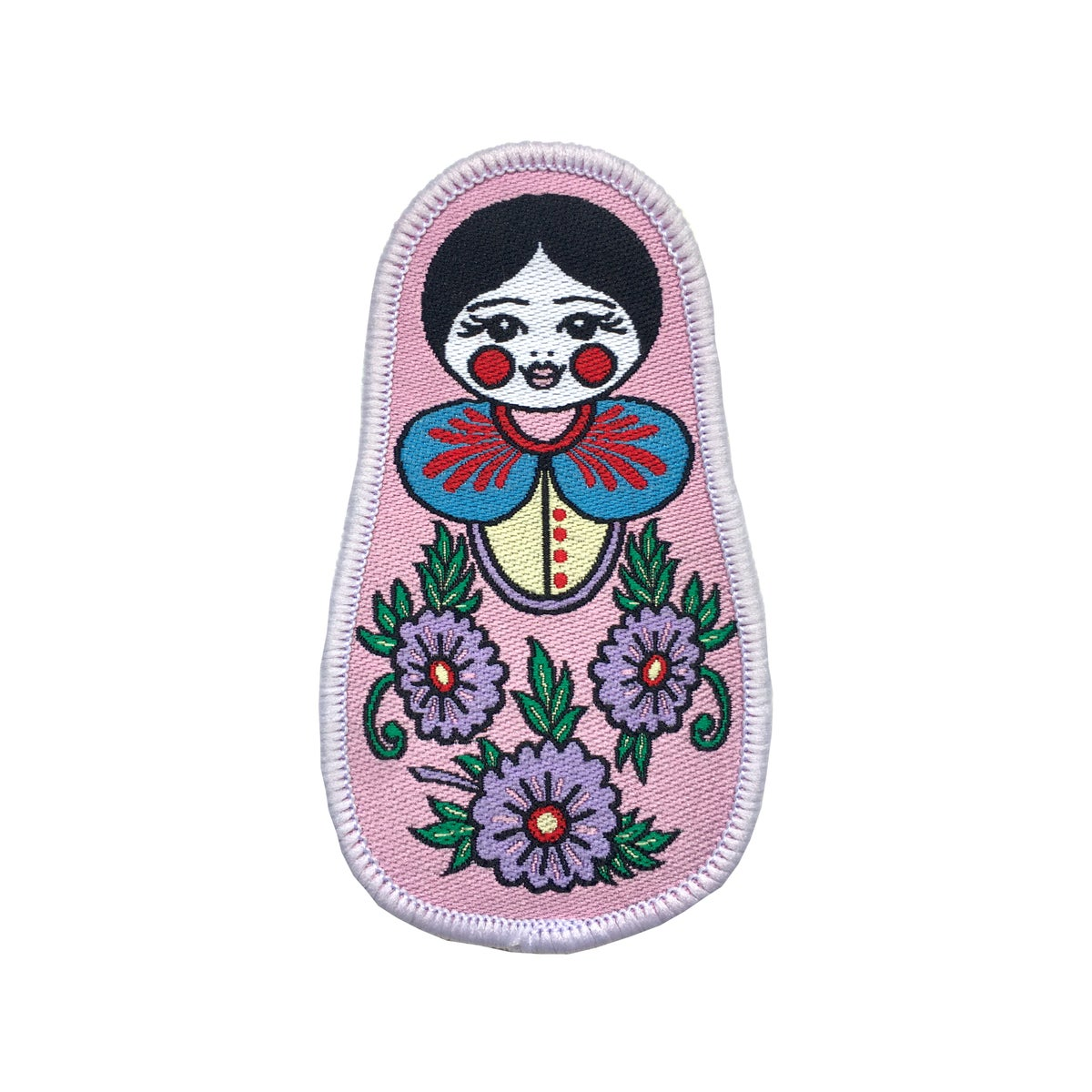 Russian Doll Iron on Patch