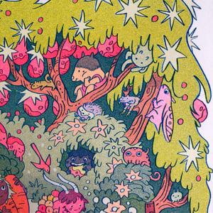 On The Mountain Garden Trail ~ Risograph Print